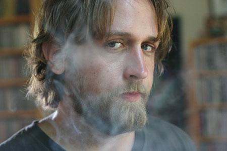 Hayes Carll looking cool in some cool smoke and stoic face