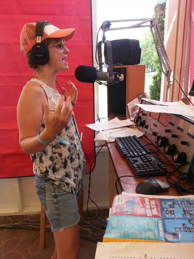 former WNCW host Amy Jones on Radio Bonnaroo