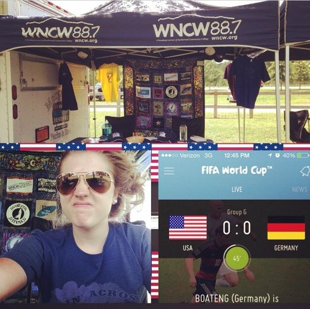 Jessica working a festival booth