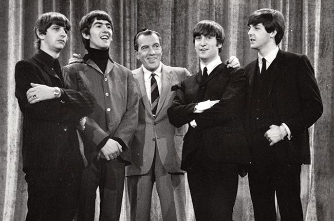 The Beatles first appearance on the Ed Sullivan Show.