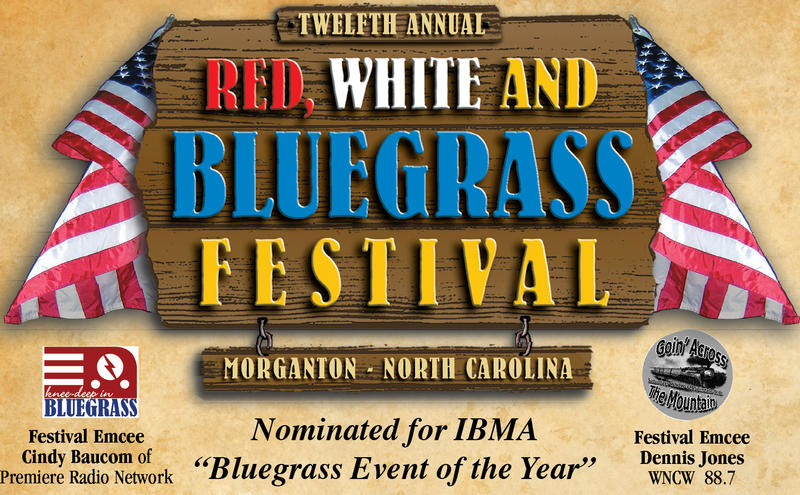 Red, White, and Bluegrass Festival Logo