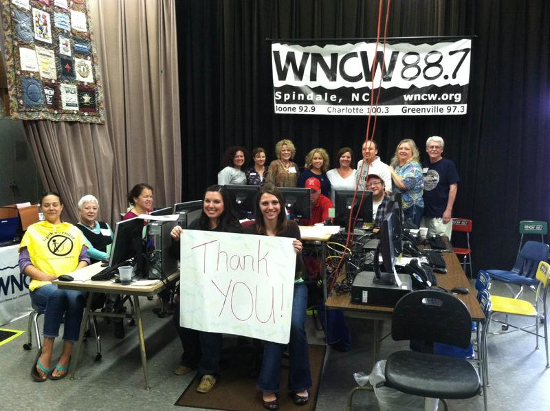 WNCW Staff and Volunteers say thank you!
