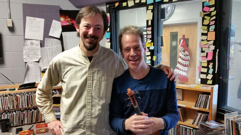 Martin Anderson and Jamie Laval in the air studio on December 16, 2015.