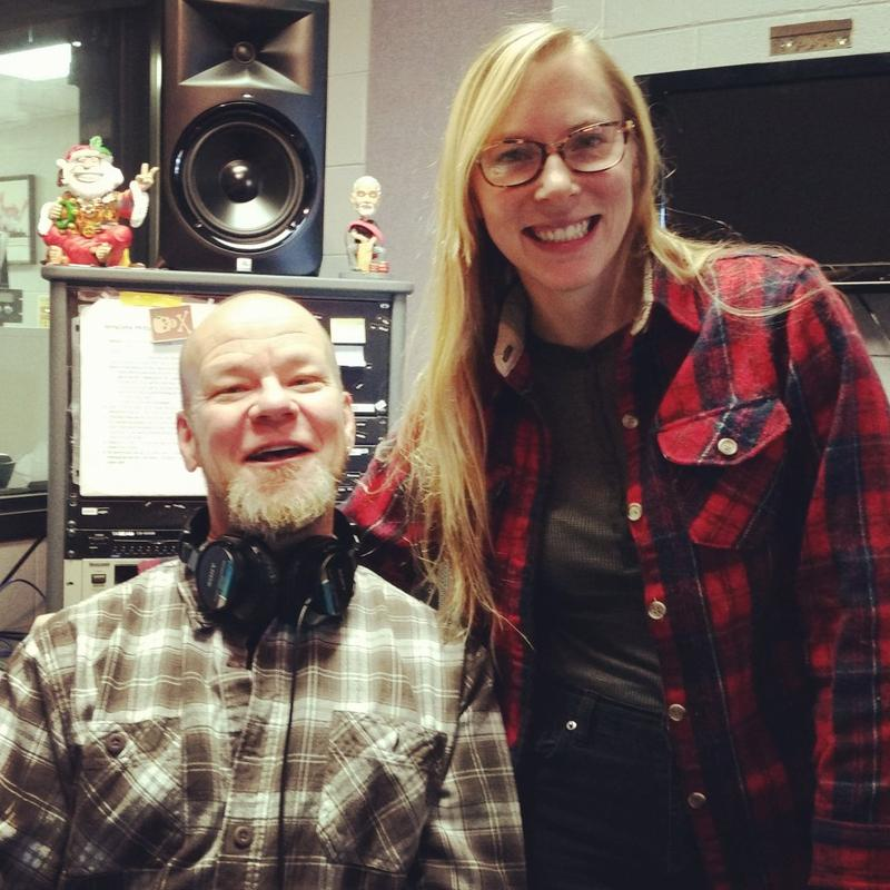 Scotty Robertson and Halli Anderson in the WNCW Air Studio