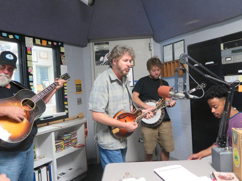 Leftover Salmon in WNCW's air studio on May 20, 2016