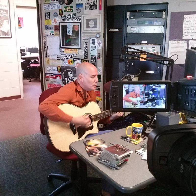 David LaMotte in WNCW's Air Studio.