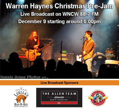 Live Friday, December 9th beginning at 6pm: THE WARREN HAYNES CHRISTMAS PRE-JAM