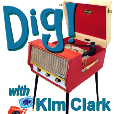 Cartoon image of record player with Dig! Logo
