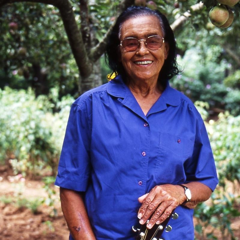 Etta Baker in Garden