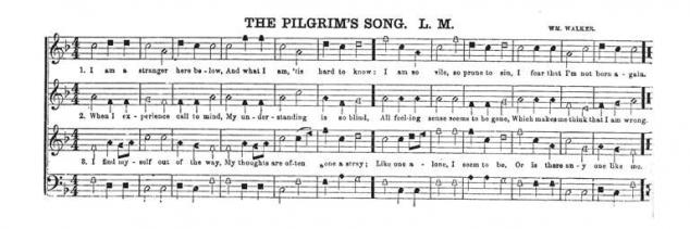 """The Pilgrim's Song"" shape note music"