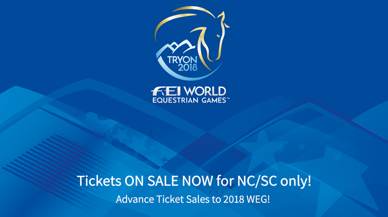 FEI World Equestrian Games Tryon 2018 - Ticket Pre-sale for NC and SC Residents