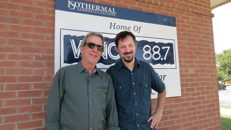 John Huey and Martin Anderson outside WNCW