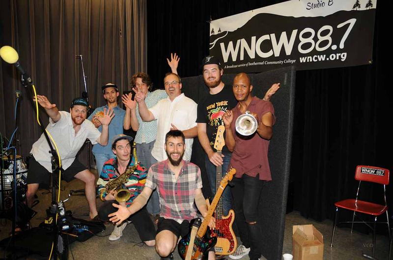 Super Yamba Band with WNCW's Program Director Joe Kendrick