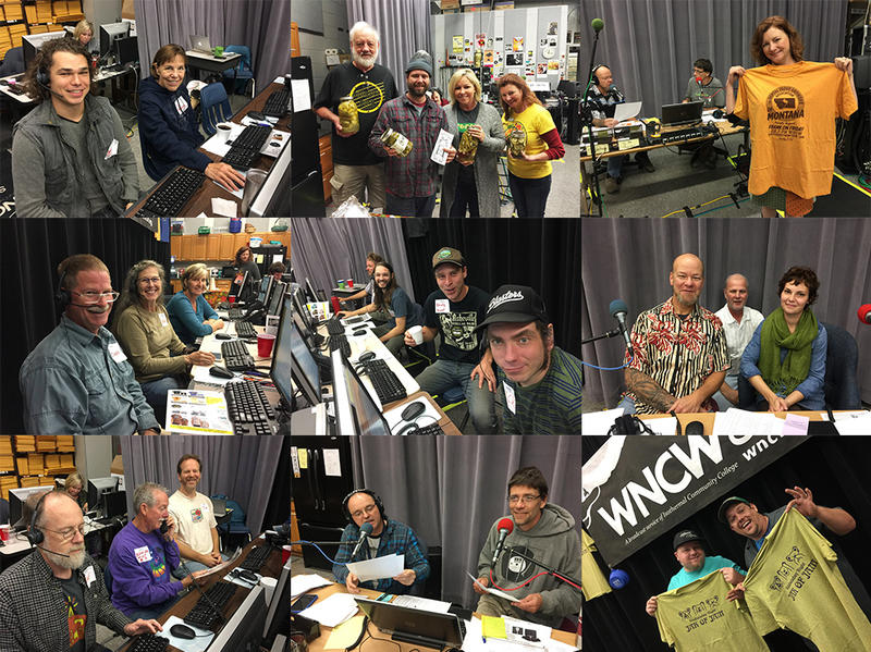 Photo collage of WNCW's Fall Fund Drive 2017