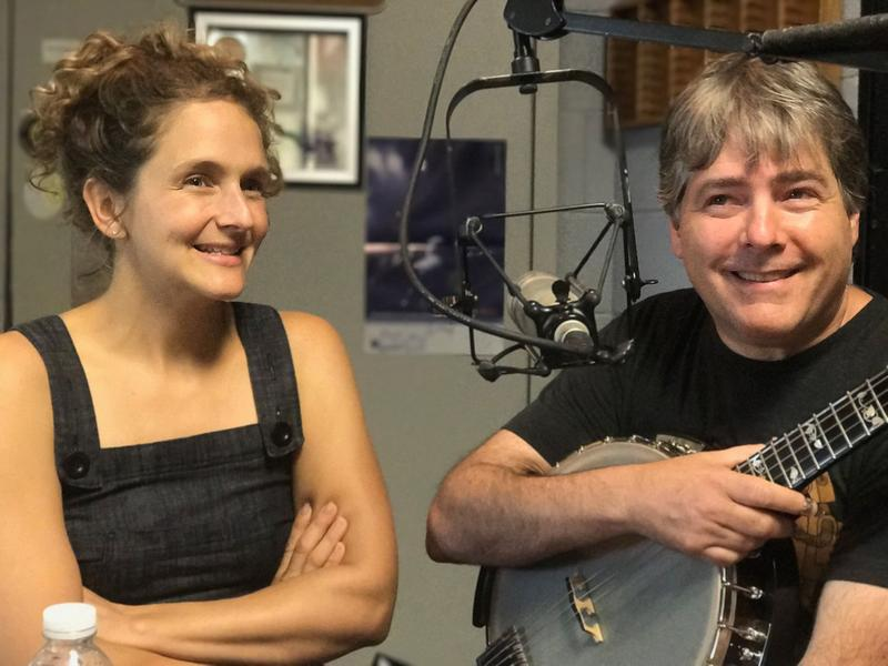 female and male musicians being interviewed at radio station