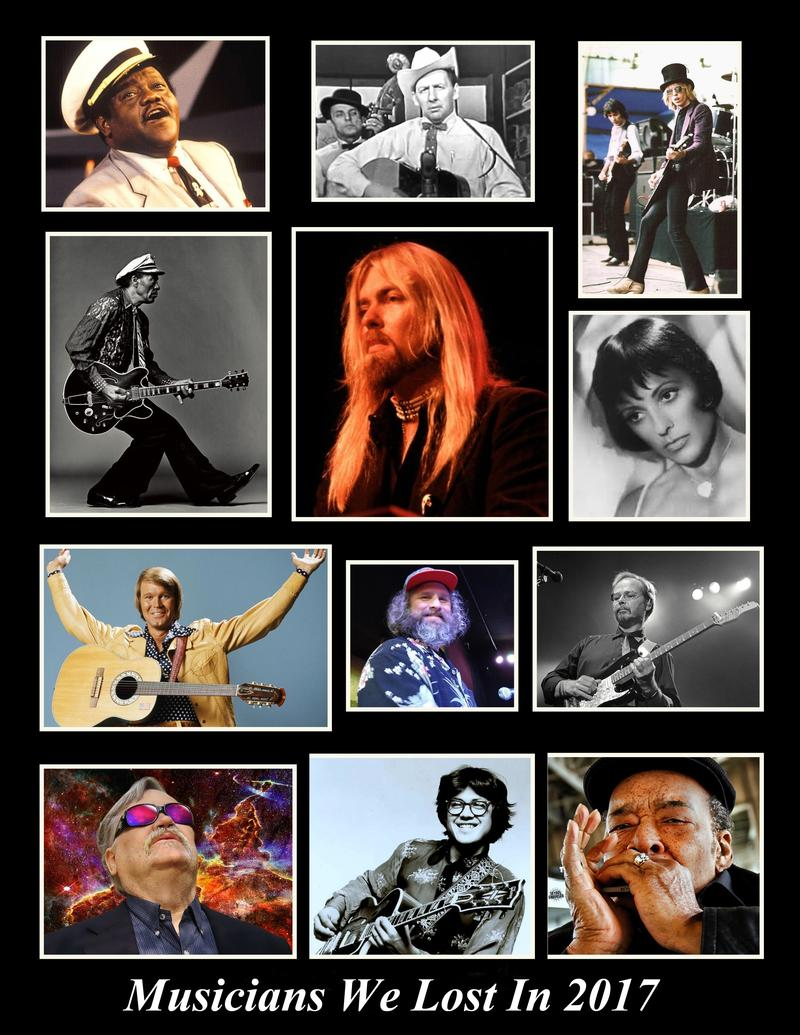 Photo Collage - WNCW Tribute to Musicians We Lost in 2017