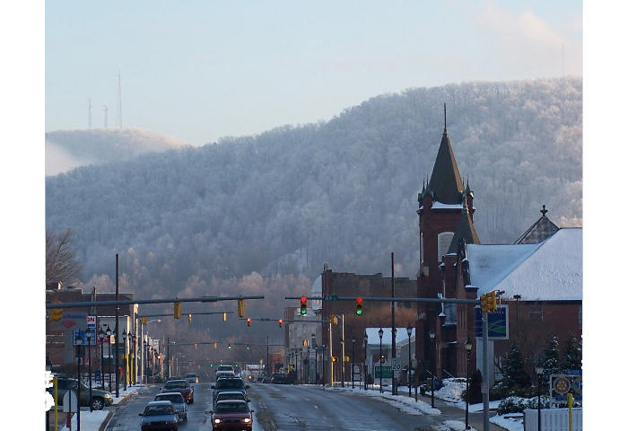 Main Street Downtown Marion in Winter
