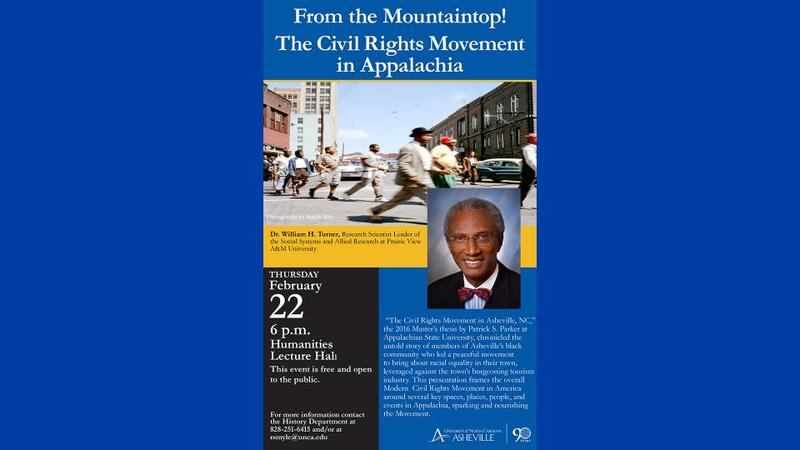"""The Appalachian Origins of the Modern Civil Rights Movement in the USA"" talk by William H. Turner"