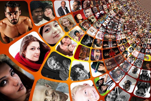 Image of screens with pitures of people from all cultures