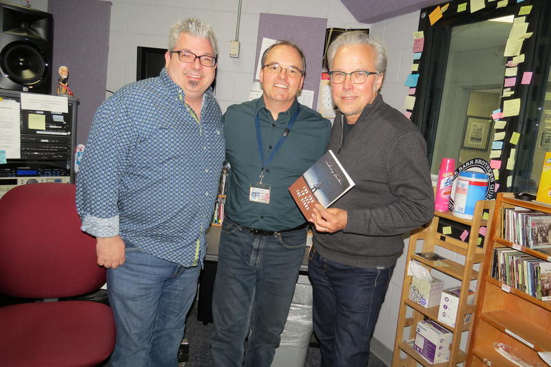 Image of three musicians in WNCW On Air Studio