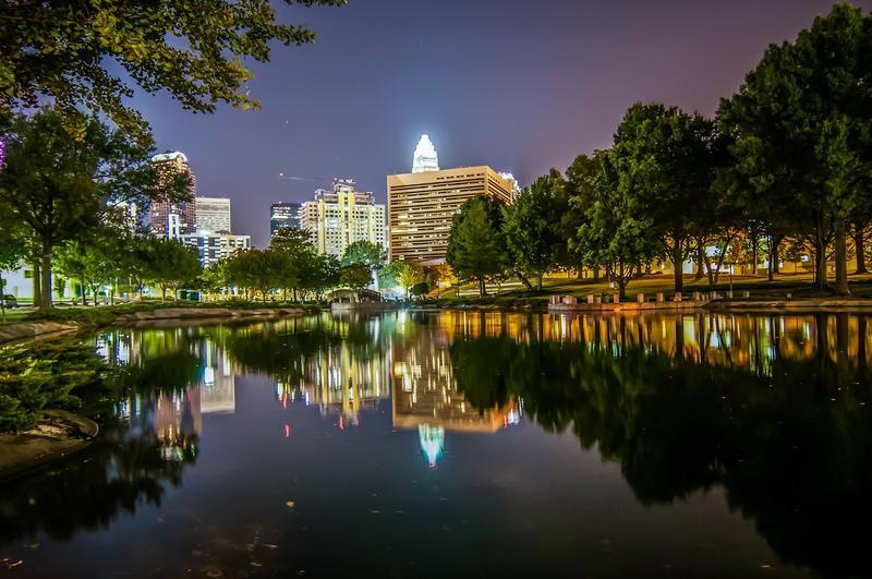 Image of Charlotte NC Skyline at night