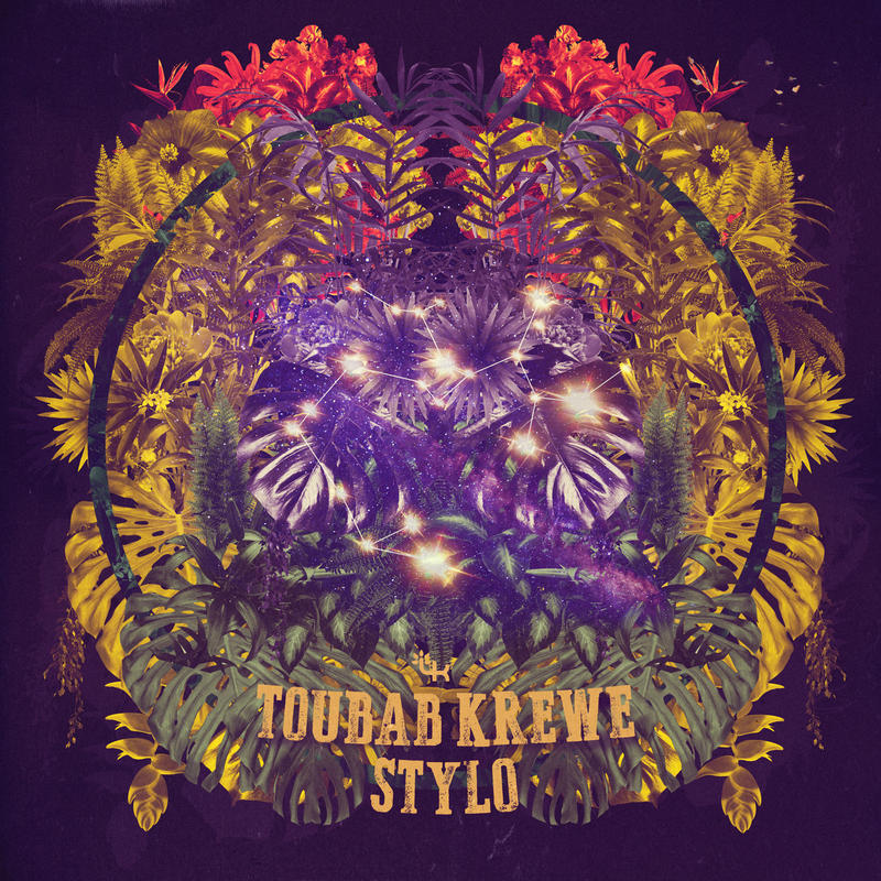 colorful art work for Toubab-Krewe Band