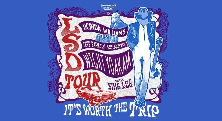 LSD Tour: Lucinda Williams, Steve Earle, and Dwight Yoakam