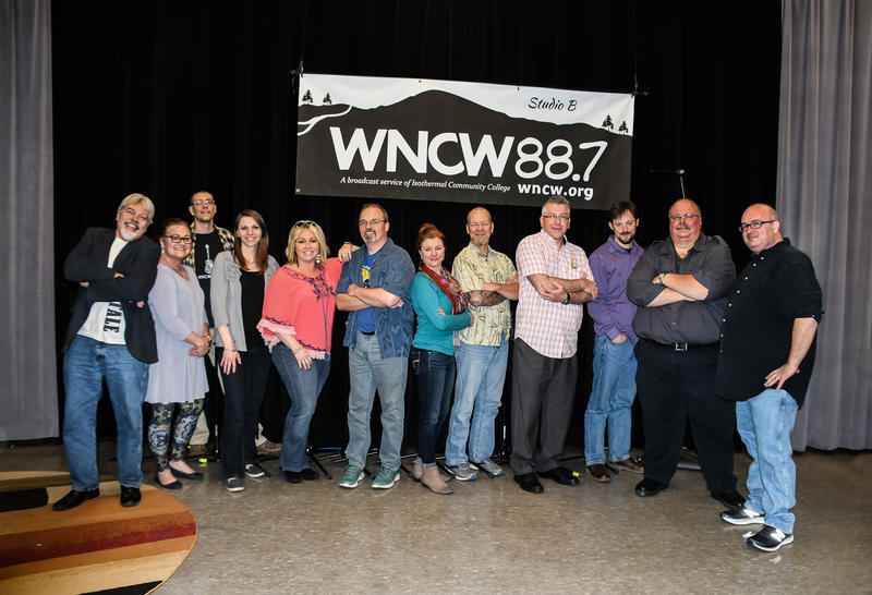 WNCW Staff pictured in Studio B.