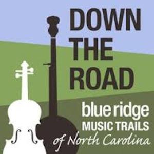 Down the Road - Blue Ridge Music Trails of North Carolina logo
