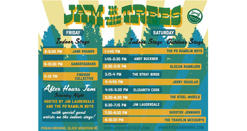 Jam in the Trees Lineup