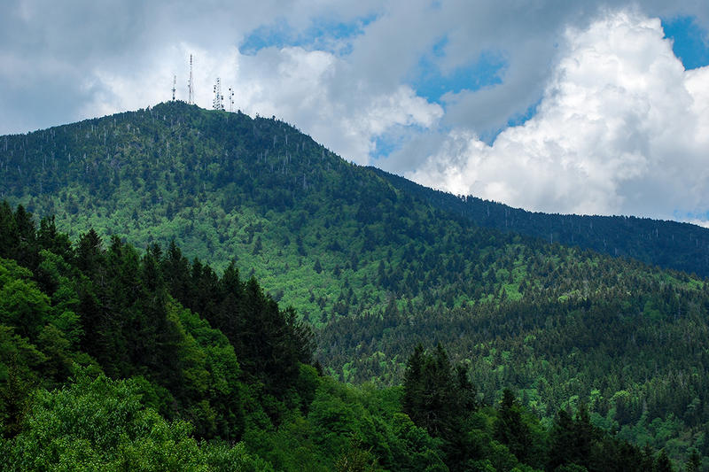 WNCW's main transmitter site on Clingman's Peak near Mount Mitchell