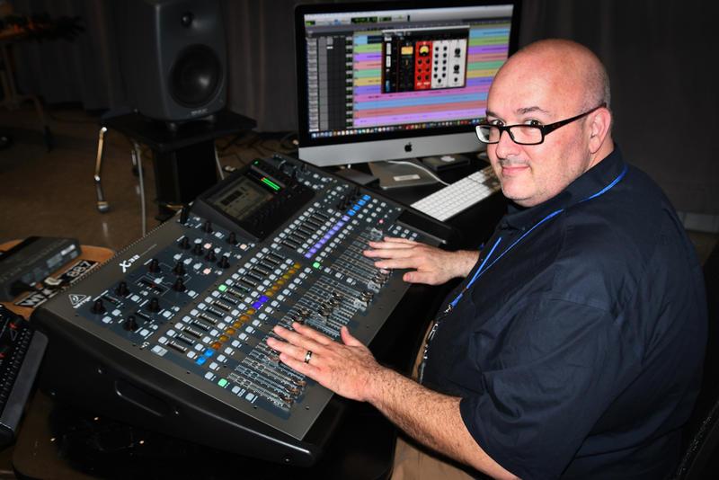 Sean Rubin, Studio Engineer, at digital console