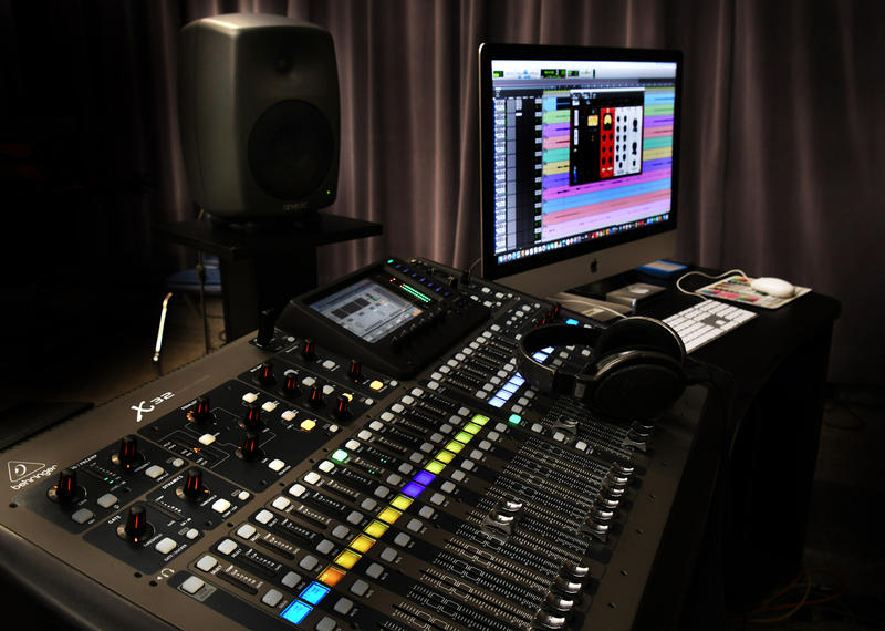 Studio B digital console and Pro Tools