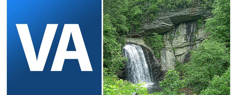 VA Logo, Waterfall image