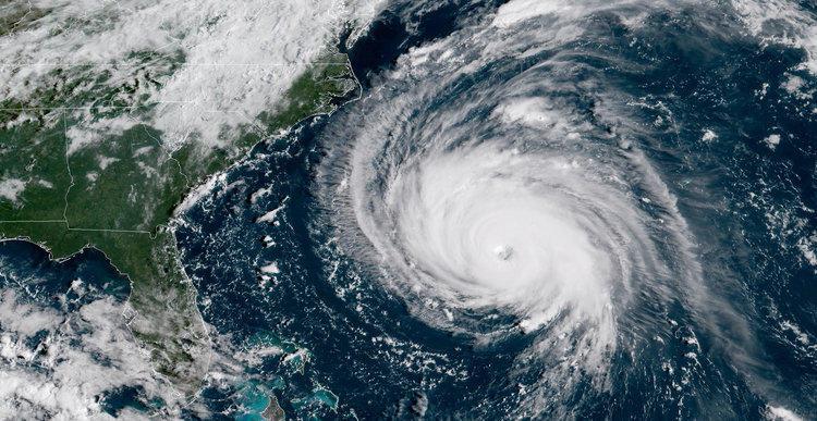 Image of Hurricane Florence Swirling in Atlantic Ocean