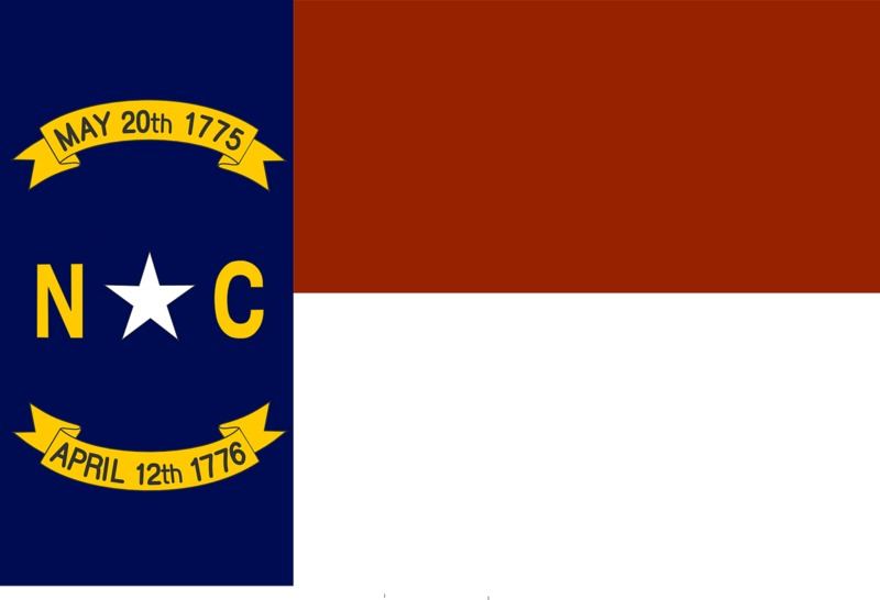 Image of flag of North Carolina
