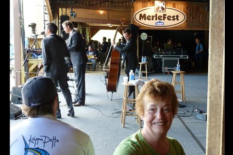Merlefest backstage