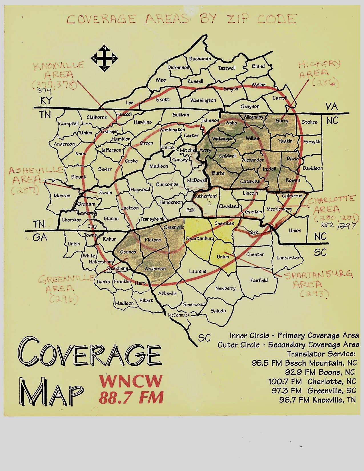 Spindale Nc Map.History Of Wncw 88 7 Fm In Spindale Nc Wncw