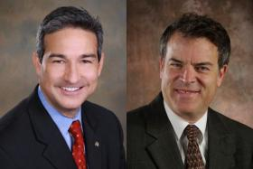 Democrat Joe Bruscato and Republican Glen Weber are battling it out for Winnebago County State's Attorney.