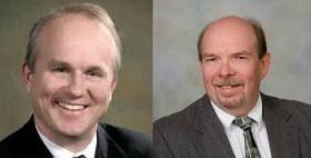 Clay Campbell and Richard Schmack face each other in DeKalb County's State's Attorney's Race