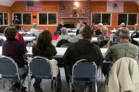 Cortland residents meet with members of Stop the Mega Dump,