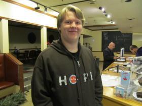Feed'em Soup volunteer Isaac Truckenbrod