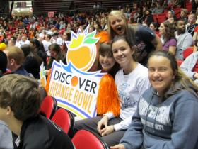 Pep rally for Orange Bowl at NIU Convocation Center