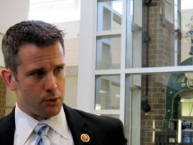 Congressman Adam Kinzinger, during a tour of DeKalb High School, January 28, 2013.