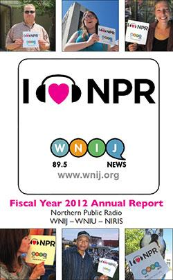 WNIJ - WNIU FY12 Annual Report cover