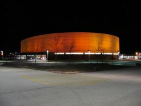 NIU's Convocation Center turns orange during a pep rally before the Orange Bowl on Jan. 1