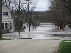 The Illinois River Flows Through A Marseilles Neighborhood (Taken April 2013)