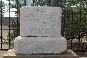Billy the Kid's headstone at Fort Sumner, New Mexico.