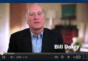 Screenshot from campaign video released by Bill Daley