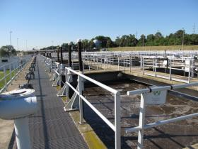 One part of Fox Metro's multi-stage water purification process